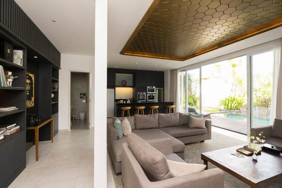 High privacy 3 bedroom villa Seminyak with its own library